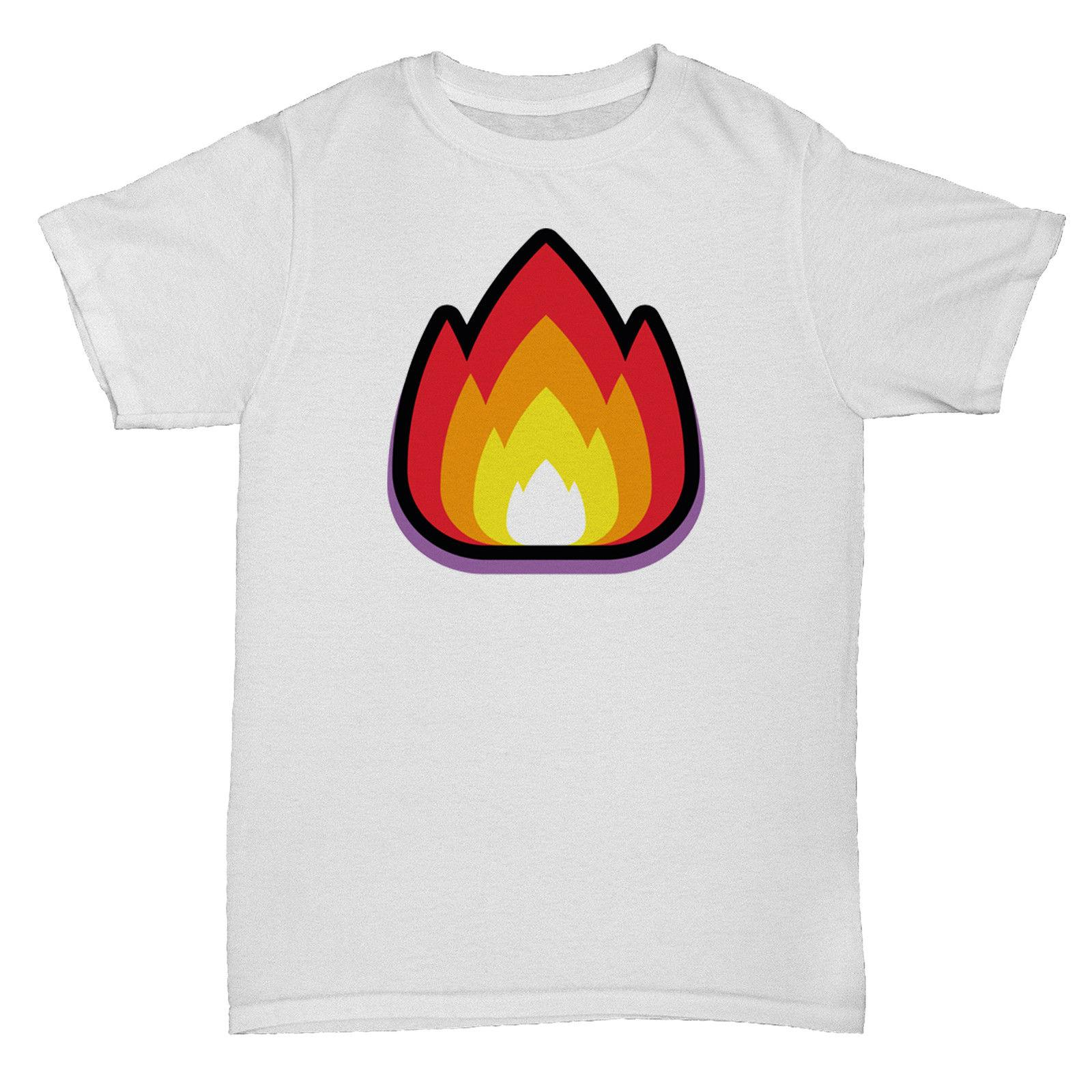 6f249bb8ea76 FIRE EMOJI EMOTICON SMILY FACE COOL INSPIRED RETRO CULT FUNNY TUMBLR T Shirt  Gag T Shirts T Shirts With Prints From Limitlessprints