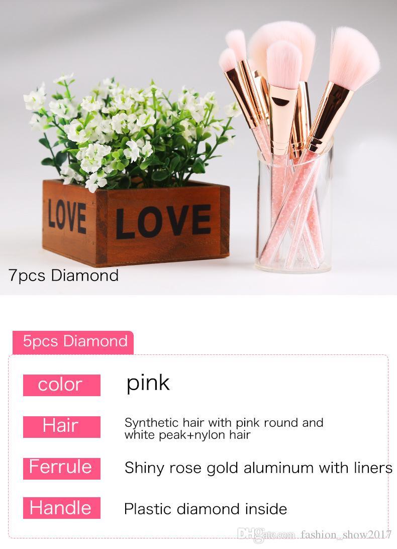 Hot Makeup Brushes Set Professional ZOERYA Flow Sand Drill Makeup Brush With Pink Bag