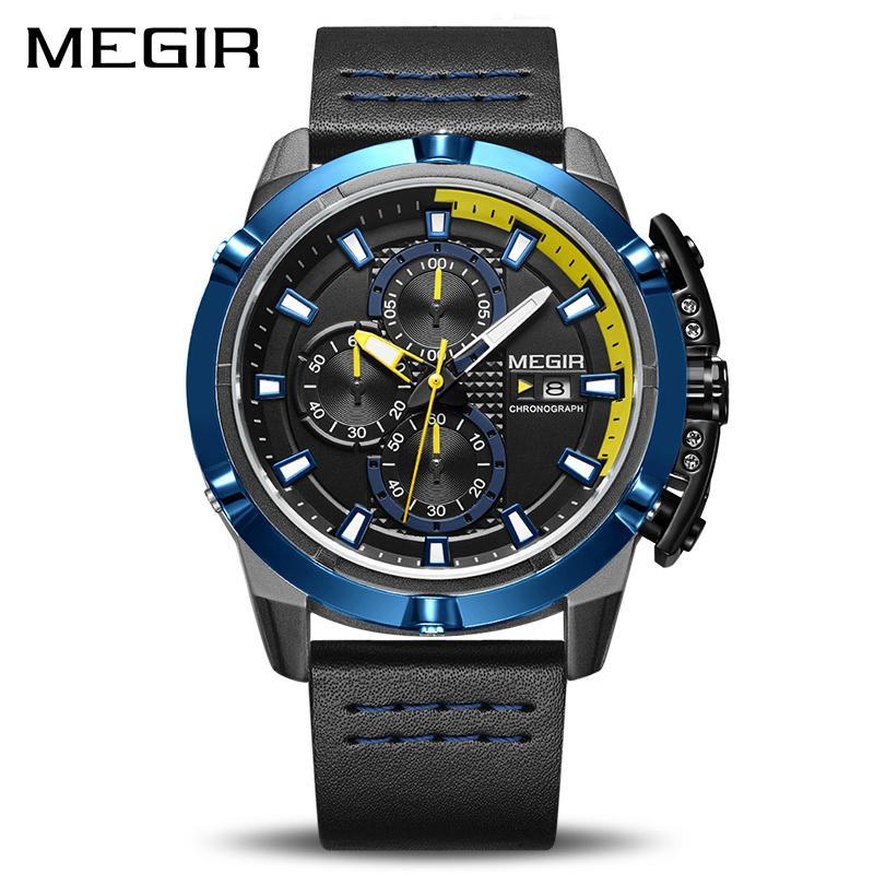 f30fb8530f72 Compre MEGIR Hombres Cuarzo Reloj Deportivo Relogio Masculino Cronógrafo  Ejército Militar Relojes Reloj Hombres Top Brand Luxury Reloj Creativo  Hombres ...