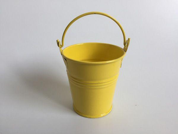 2018 D7*H7CMD2.7*H2.7inch Planter Garden Bucket Tin Box Iron Pots Metal  Buckets Decorative Yellow Pails From Liyuhong0711, $1.16 | DHgate.Com