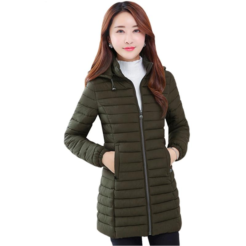76daa7ad1dbba Hot 2018 Winter Women Jacket Plus Size 4XL Womens Parkas Thicken Hooded  Cotton Padded Coats Female Outwaer Wholesale Y493 Brown Leather Jackets  Suede ...