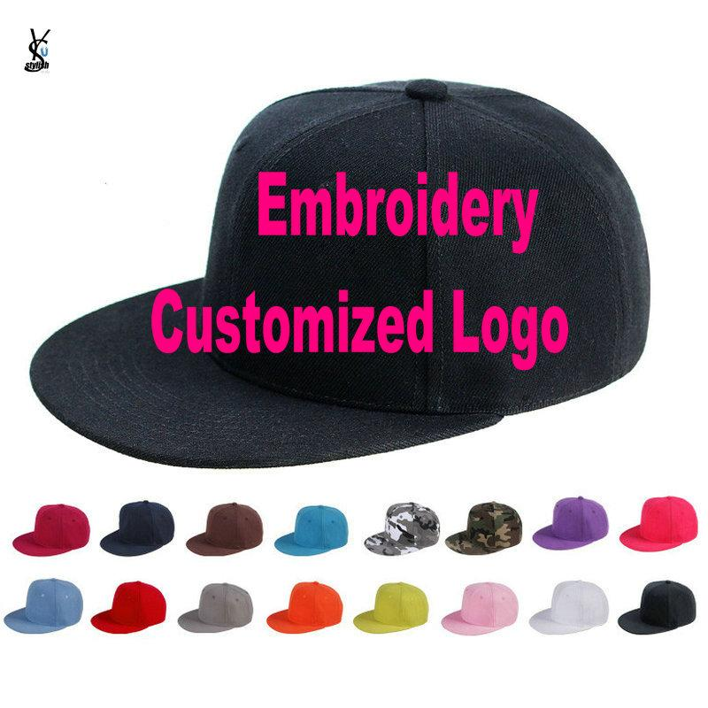 3e22a3e3e0806 Custom Embroidered Hats Cap For Girls Boys Cuatomized Cartoon Name Children  Cap Adult Hip Hop Flat Baseball For Summer YY141 Baby Cap Embroidered Hats  From ...