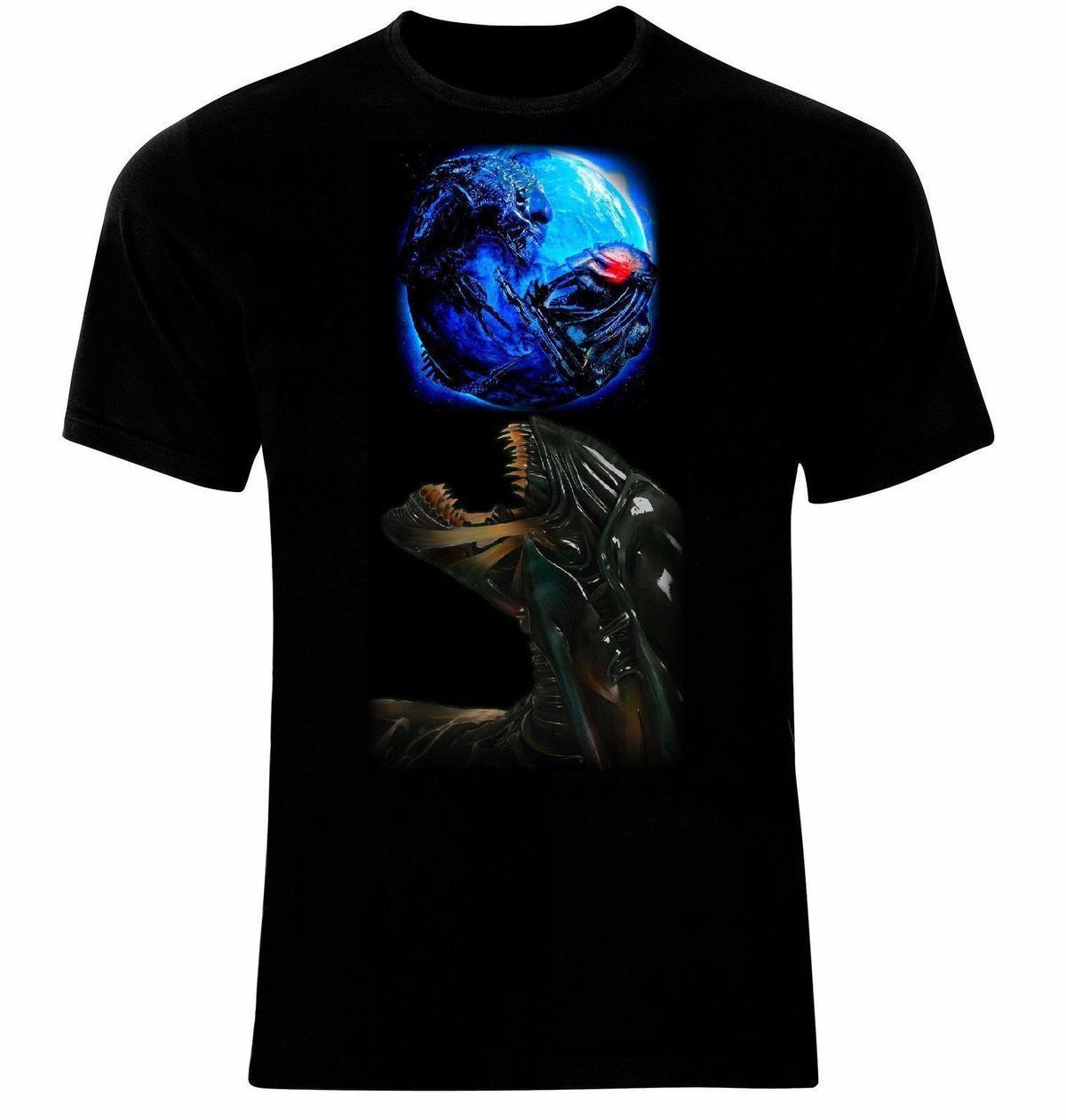 0e851e889 Compre Alien Vs Predator AVP Männer Impresso T Shirt De Lijian083, $12.08 |  Pt.Dhgate.Com