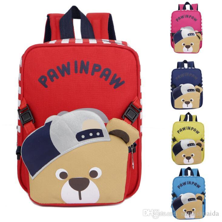 2018 Schoolbag Baby Knapsack Children S Bags Kindergarten Pupil S Backpack  Child S Bag Canvas + Nylon School Bags Cute Cartoon A14 School Backpacks  Cool ... b3a9b195b7262