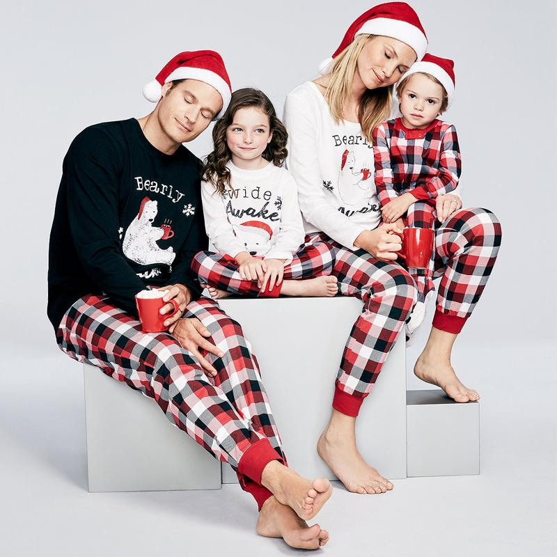 ab50559065 Mother Father And Daughter Son Family Matching Clothes Sets Bear Plaid Pajamas  Dad Mom Mama Mommy Baby Christmas Family Look Family Dress Mom Dad Baby ...