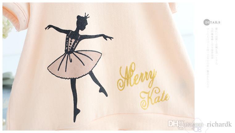 2018 Sommer Schöne Süße Mädchen T-Shirts Kinder Prinzessin T-Shirts Kleinkind Mädchen Kleidung 6-30 Mt Prinzessin Costume 2 clour
