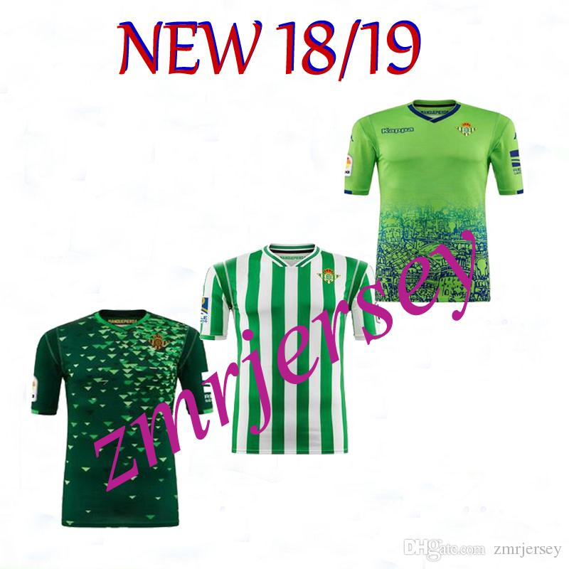 dc1ae9af2 2018 2019 REAL Betis Soccer Jersey HOME Away 18 19 JOAQUIN BOUDEBOUZ ...
