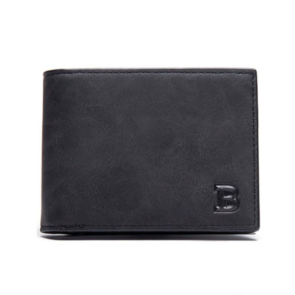 177dae8ad75a66 2018 Fashion Men Short Wallet Vintage Folding Zipper Solid Color ...