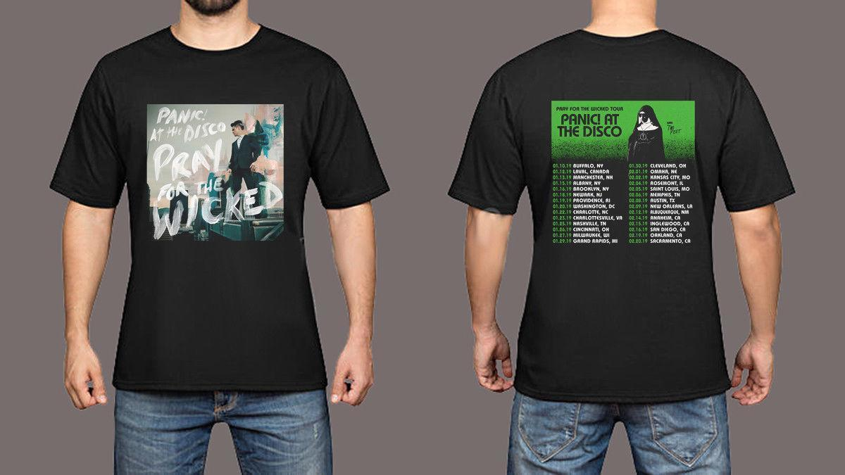 047a81d6 Panic! At The Disco Pray For The Wicked Tour Dates 2019 Black T Shirt S To  3XL Mens 2018 Fashion Brand Teet Shirts Tee Shirts For Sale From Lijian86,  ...