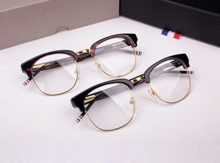 8343f7d6dfc TB-016B Male Ms. Semi-circular Frame Myopia Eyeglasses Frame Retro ...