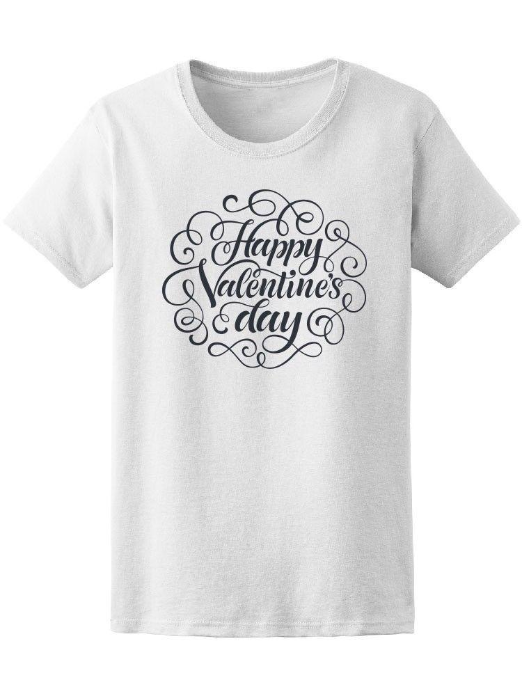 Großhandel Cursive Happy Valentines Day Womens Tee Bild Von