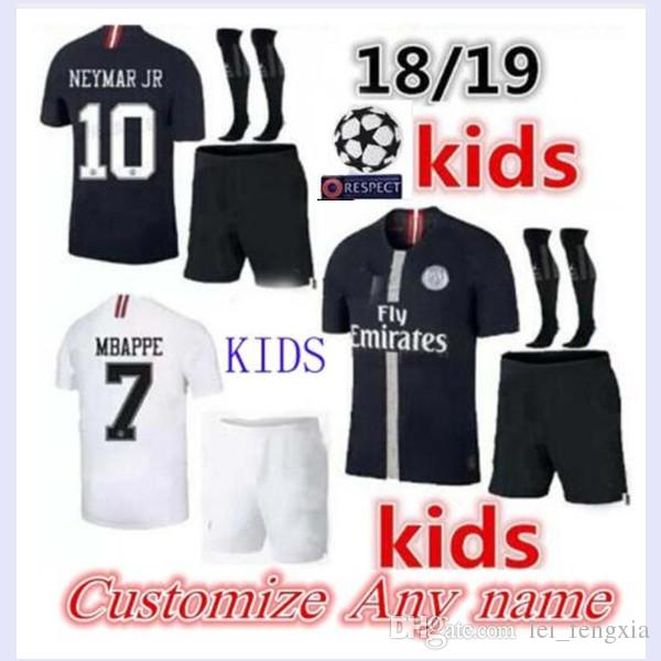 3a2d58c59 2018 Paris Kids Kits+sock MBAPPE Soccer Jersey 18 19 Psg Kids Soccer ...