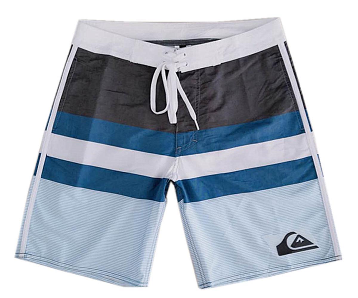 d6e3586cb3 Compre QUIKSILVER Poliéster Bermudas Shorts Dos Homens Board Shorts Calças  De Praia Boardshorts Quick Dry Surf Calças Swimwear Swim Trunks Natação  Troncos ...
