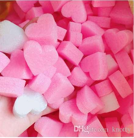 Fluffy Slime Filler Kids Sludge To Release Toy Soft Clay Mud Pink Heart Love Beads Foam Strip Slime Accesorios Material DIY Material