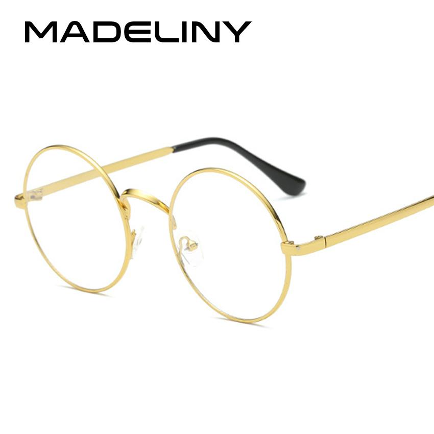 2f6a176920a MADELINY Fashion Alloy Round Frame Glasses Retro Women Eyewear ...