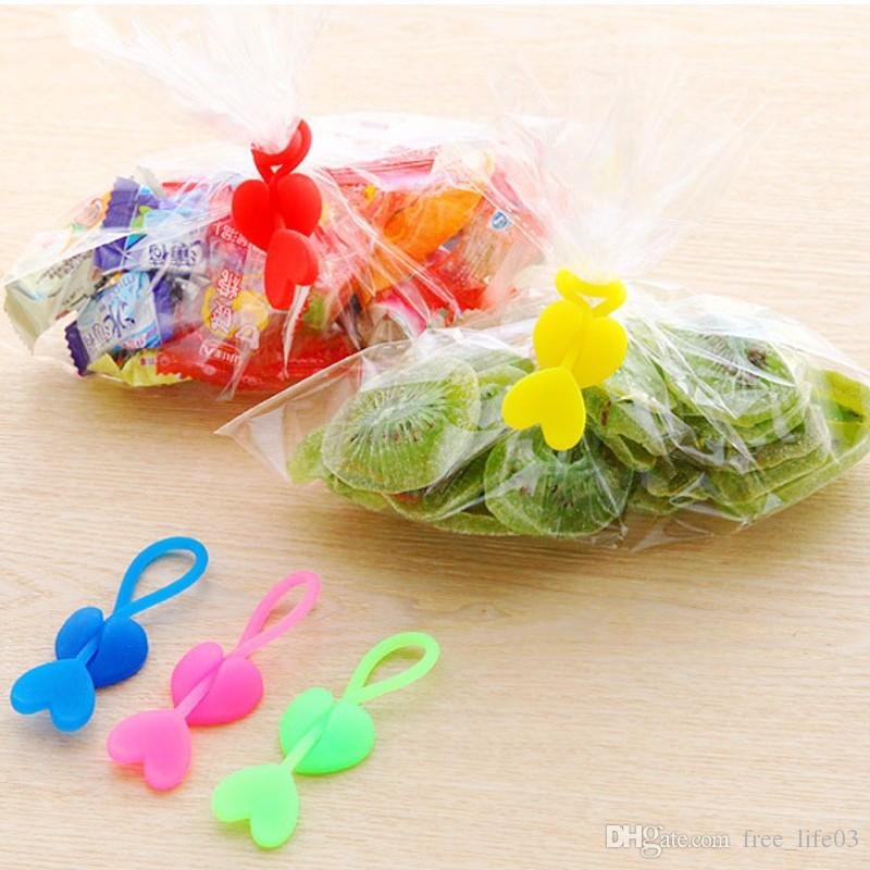 New Family Home Green Loving Silicone Plastic Food Bag Sealing Clip Tie Beam Port Bundling Multiple Installation