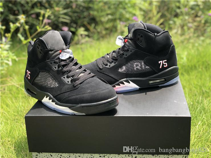 48919e2e95b0ac 2018 Limited Release 5 Paris 5s Basketball Shoes For Man Black Suede  Limited Sports Sneakers With Original Box Shoes Mens Online Shoes From  Bangbangbing826