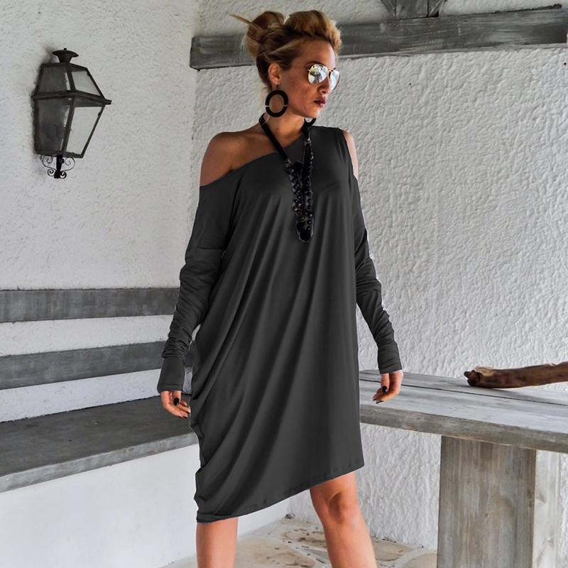7276a605e1ff Acquista Vestito Sexy Da Donna Con Maniche Lunghe A Manica Lunga ...