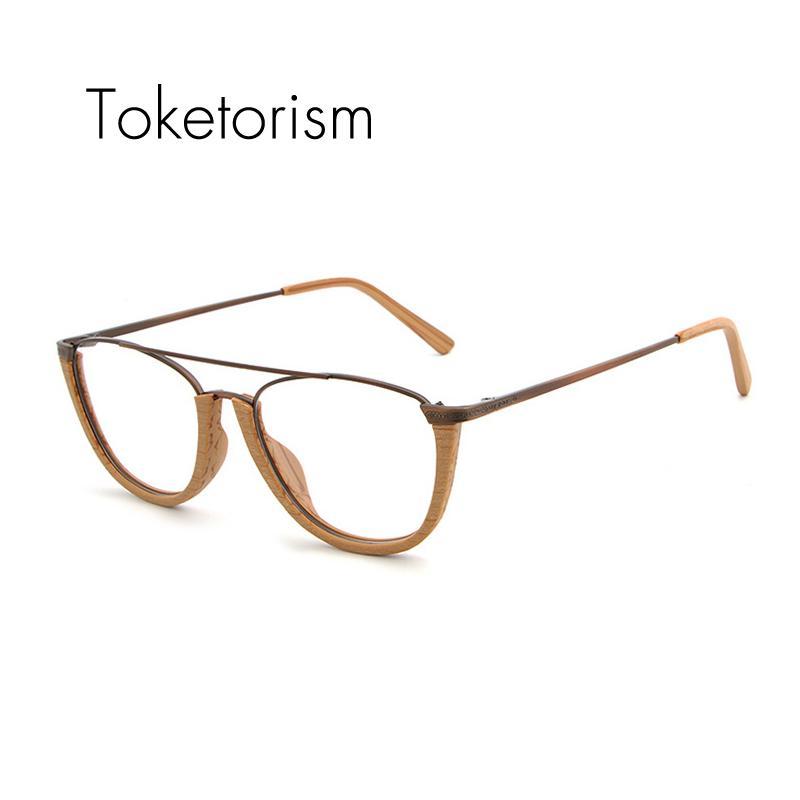 004903727a90 Toketorism Half Frame Retro Optical Glasses Mens Womens Personality ...