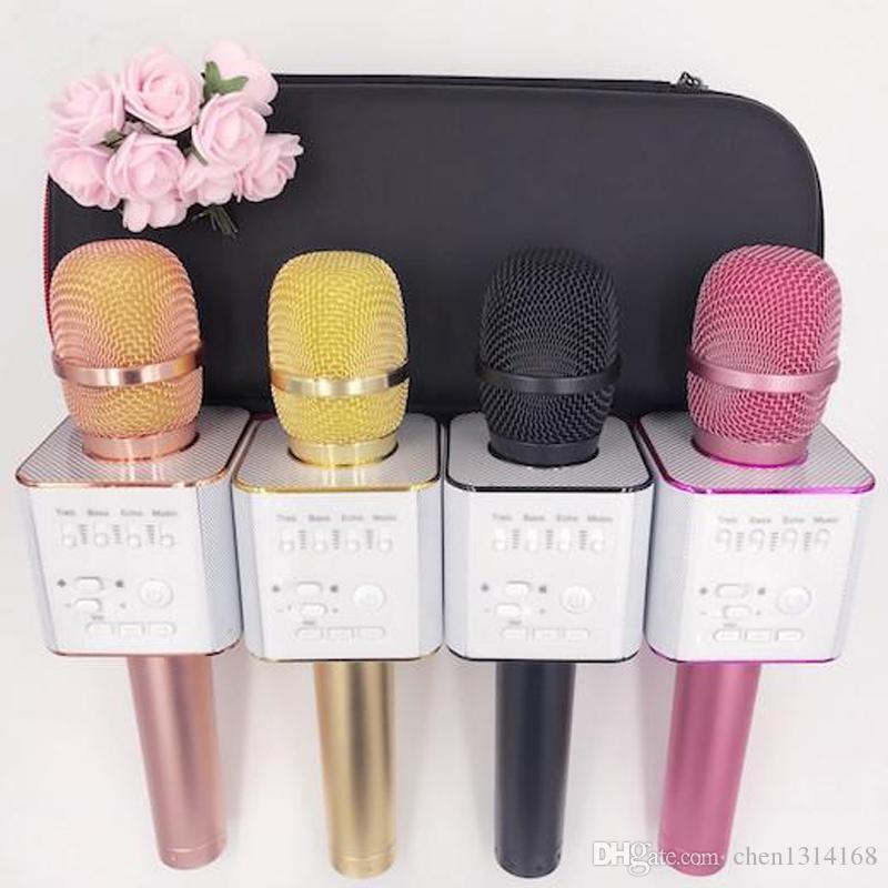 Q7 Bluetooth Microphone Portable Handheld Wireless KTV Karaoke Player Loudspeaker With MIC Speaker For iPhone 7 Plus Samsung S7 Edge 770028