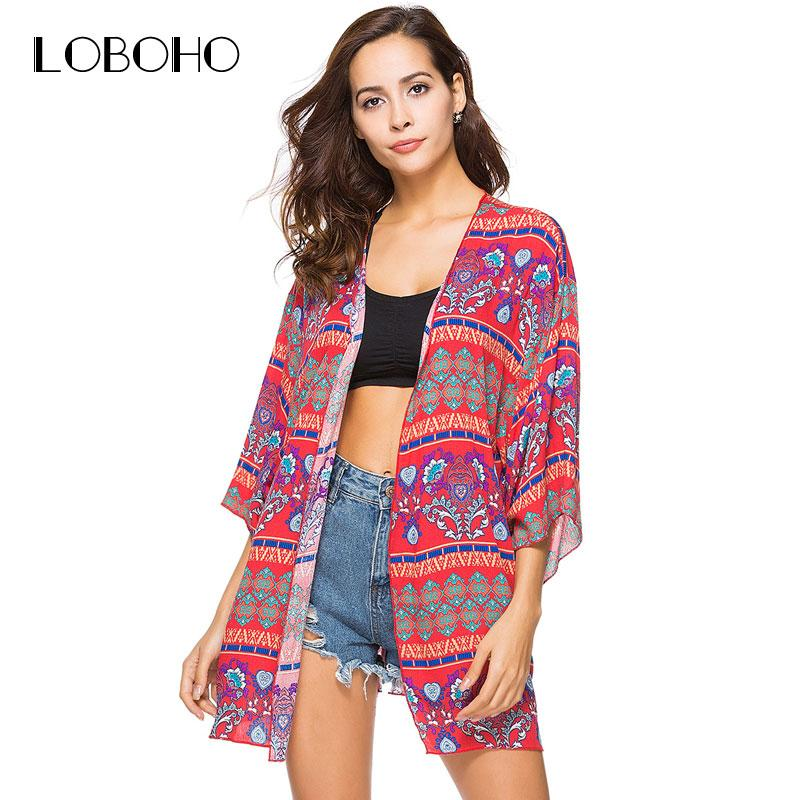 c1787606d8 2019 Floral Print Kimono Cardigan Summer 2018 New Arrival Chiffon Blouse  With Sleeve Holiday Fashion Casual Long Kimonos Women Tops From Mangcao