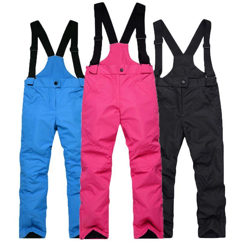 488c6161b Wholesale- Ski Pants New Winter Boy Girl Windproof Warm Outdoor Ski ...