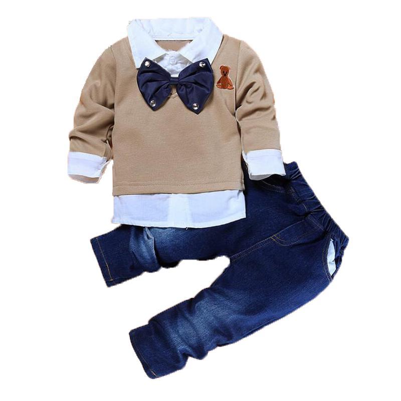 cd795ad53 Compre Conjuntos De Ropa Para Bebés Niños Pequeños Abrigos Y Pantalones De  Manga Larga Traje De Caballero Niños Chándales De Moda Ropa De Fiesta Para  Niños ...