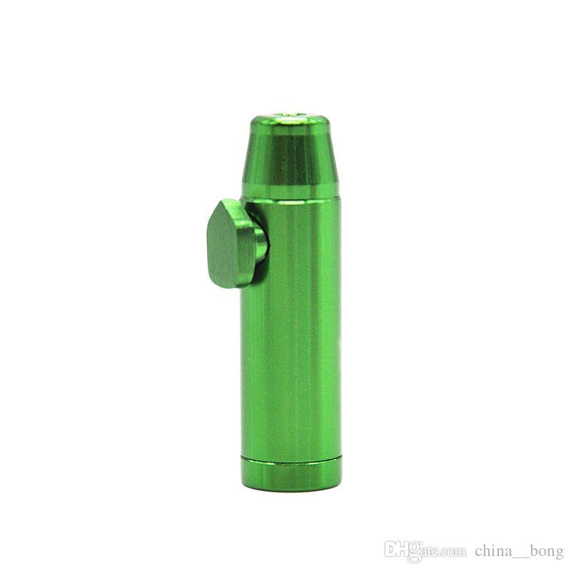 Нюхательные трубки Алюминиевая металлическая пуля Ракетная форма Нюхательный табак Дозатор нюхательный носовой курительная трубка Сниффер стеклянные бонги Прочный табак