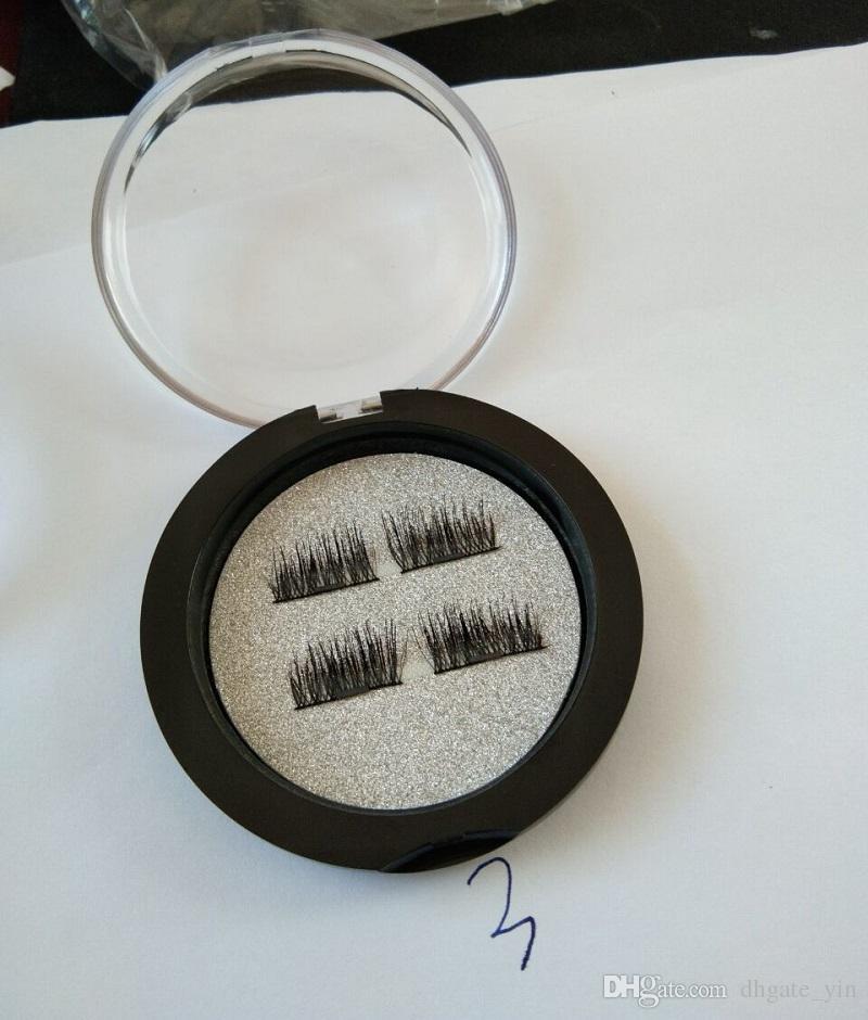 최신 3D 가짜 속눈썹! 0.2mm 영구 자석 속눈썹 3D 밍크 자석 내추럴 자연 100 % 수제 마그네틱 속눈썹 재사용 가능
