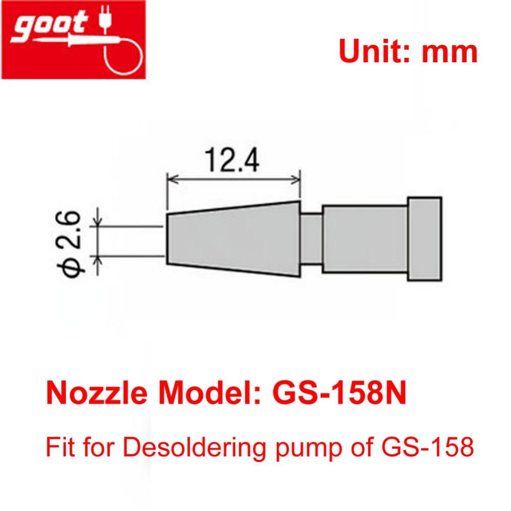 Goot Soldering Iron Wiring Diagram Tools Wire 2018 Original Japan Gs 158n Desoldering Pump Nozzle Replacement On