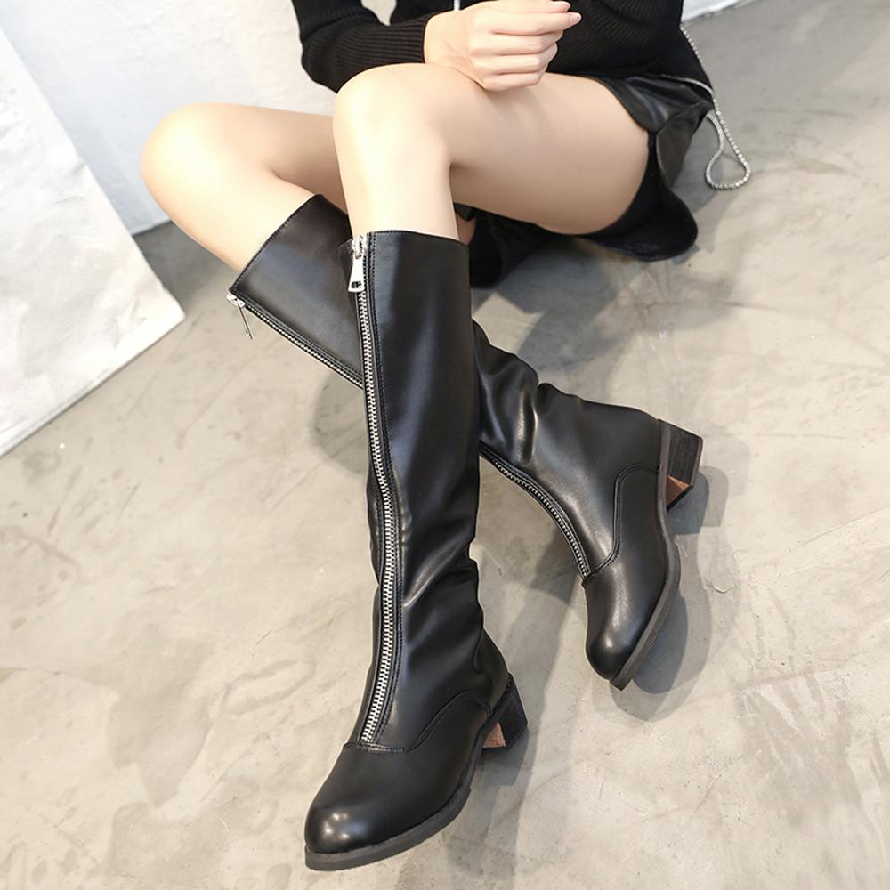 481fc75771a Women Over The Knee Boots Zipper Sexy Flat Boots Women Shoes Party Shoes  Woman Winter Lady Snow Fashion Classic Hot Black Boots Boots Pharmacy From  Tasehook ...