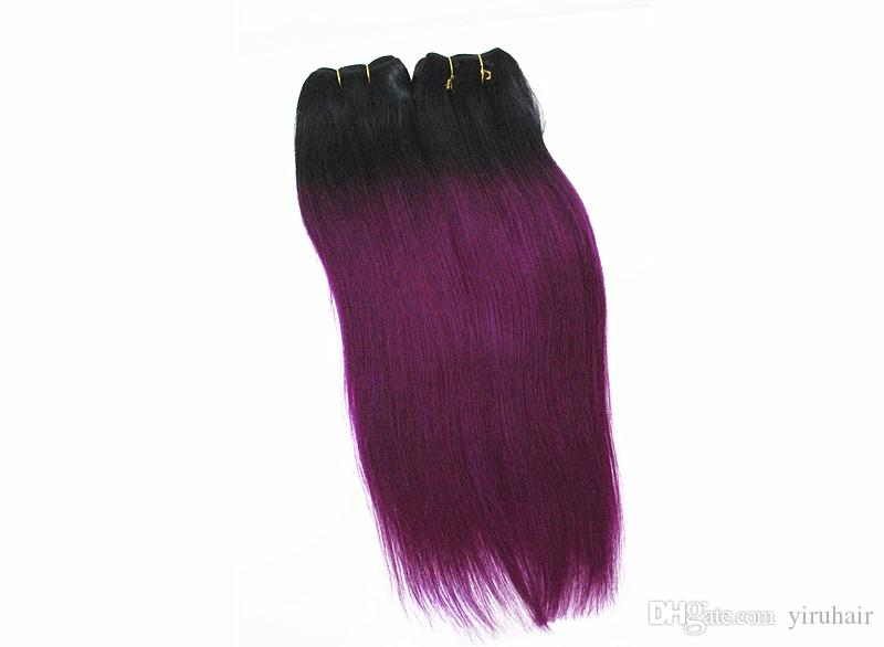 Indian Raw Human Hair Extensions 4 Bundles Hair Extensions Double Wefts 1B/Blonde 1B/light-grey 1B/red Indian Hair Bundles 10-18inch