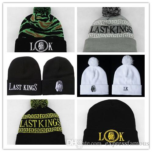 d4cf337558969a New Last Kings Beanie With A Pom Winter Warm Popular Beanies Hats For Men Women  Hot Brand Caps LK Knitted Hip Hop Hat Hats For Men Snapback Caps From ...