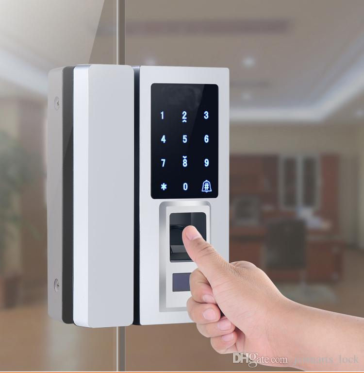 Smart Fingerprint Front Door Lock Glass Door Entry Access