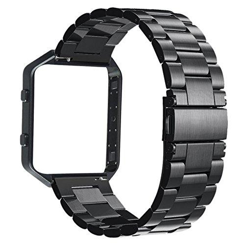 V-MORO Stailess Steel Watch Band With Metal Frame House 2 in 1 ...