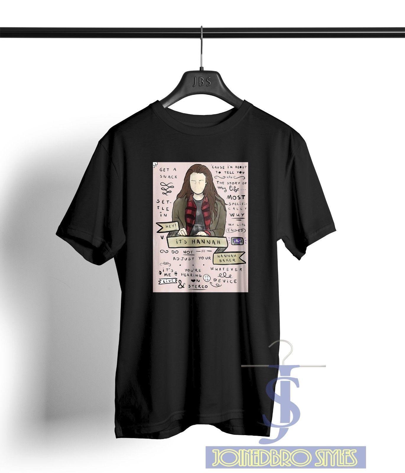 d05b3c1e9df6 Hey It's Hannah Baker 13 reasons why alstyle apparel Black t shirt S-XL  Clay NEW