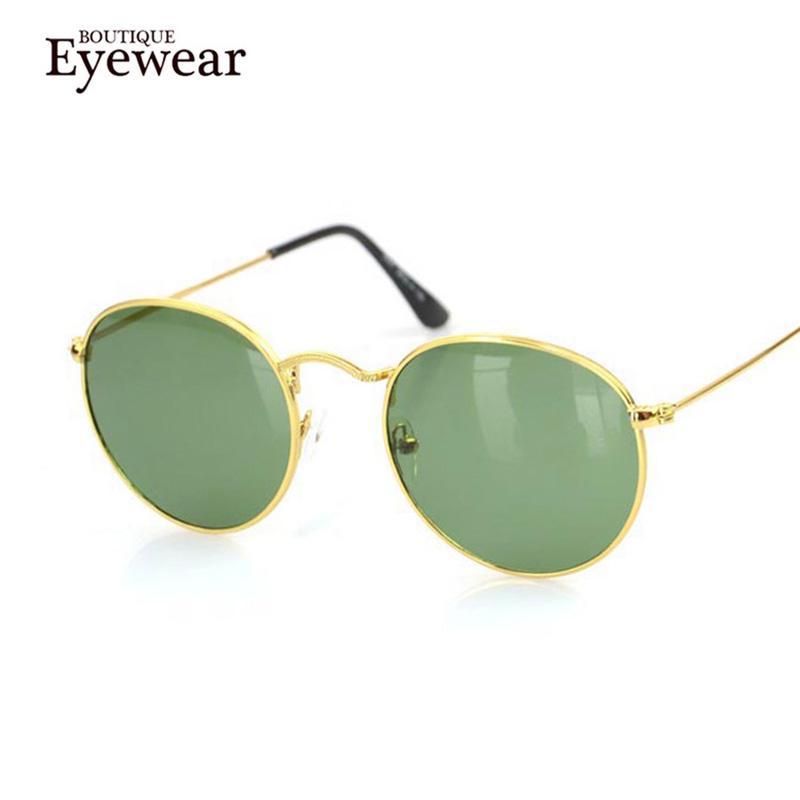 f4d55664fc BOUTIQUE New Women Retro Round Alloy Frame Sunglasses Brand Designer ...