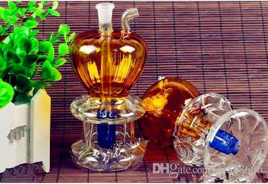 Apple Under Two Water Bottles ,Wholesale Bongs Oil Burner Pipes Water Pipes Glass Pipe Oil Rigs Smoking