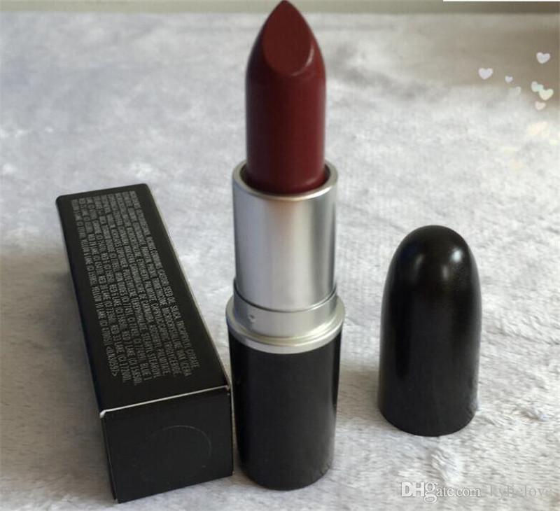 2018 heiße matte Lippenstift M Make-up Glanz Retro Lippenstifte Frost Sexy Matte Lippenstifte 3g 25 Farben Lippenstifte mit englischen Namen