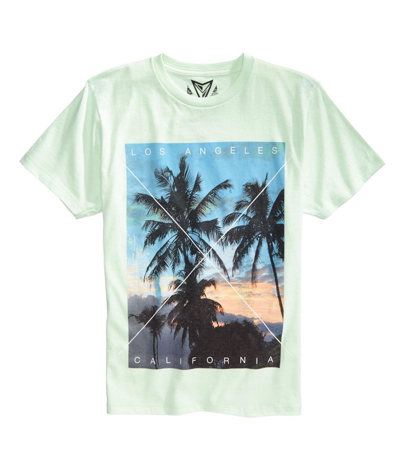 3e0f68f63c Univibe Mens La Palm Tree Graphic T-Shirt