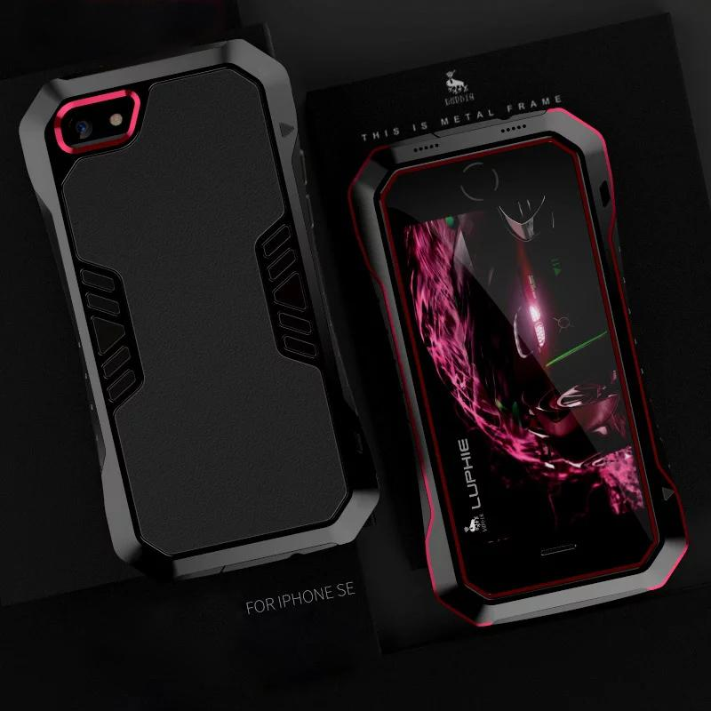 premium selection f1faf 0a805 For Apple Iphone 5s Case Silicone Luxury Shockproof Aluminum Strong Armor  Brand Phone Cover For Iphone Se Hard Metal Housing