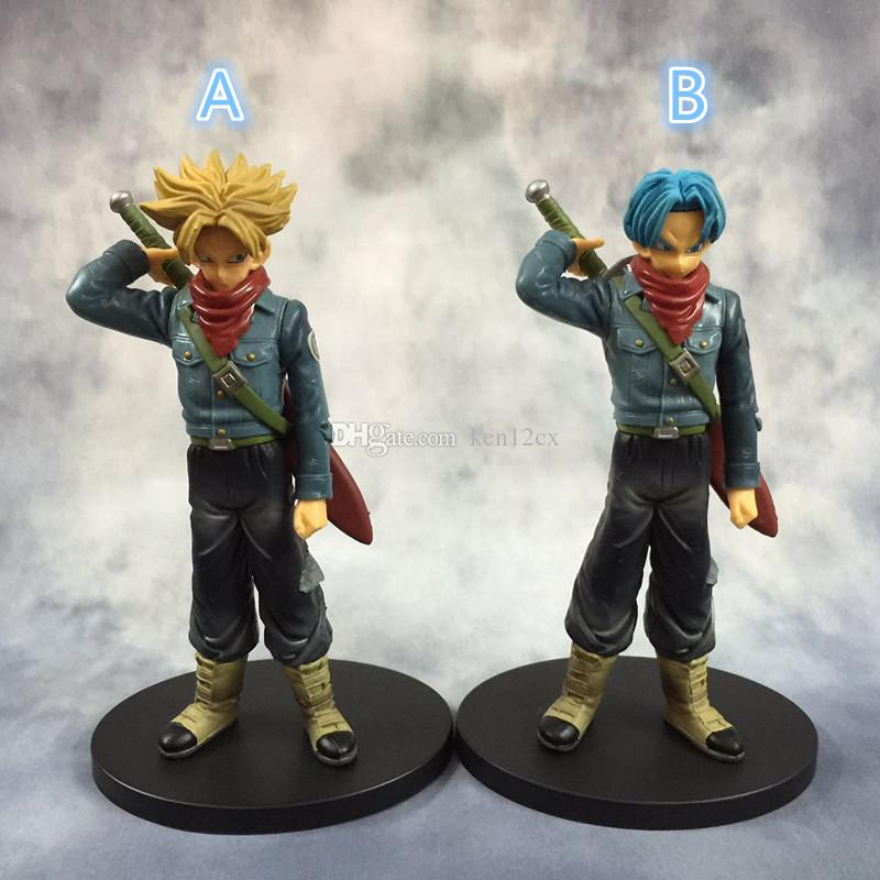 Original DXF the super warriors son goku black super saiyan 2 trunks DRAGON BALL Z figure toy model toys