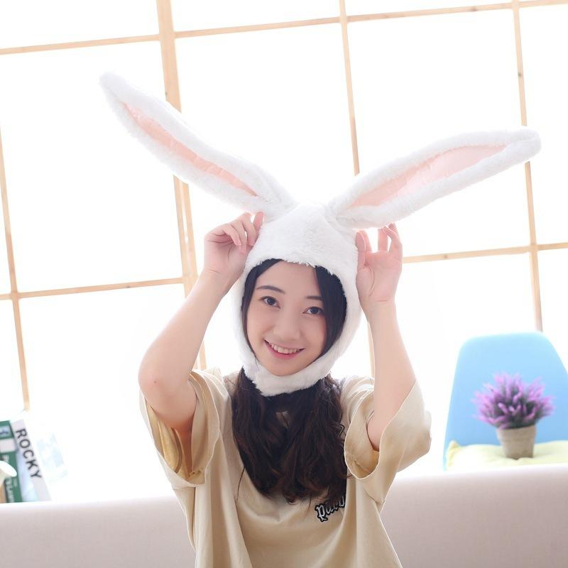 5ed06656d60 Family Matching Bunny Rabbit Ear Short Plush Hat Halloween Louise Costume  Bendy Ear Hat Cute Winter Autumn Beanies Gift Photograph Prop Baseball Cap  Slouchy ...