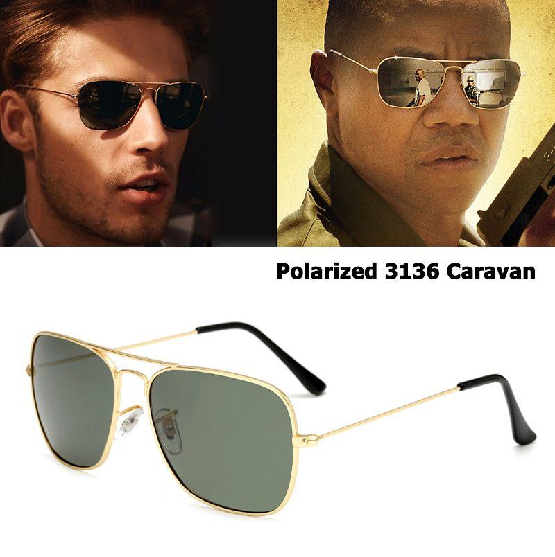 b8ec156356 JackJad Classic 3136 CARAVAN Style Polarized Square Aviation Sunglasses Men  Vintage Retro Brand Design Sun Glasses Oculos De Sol Sunglasses At Night ...