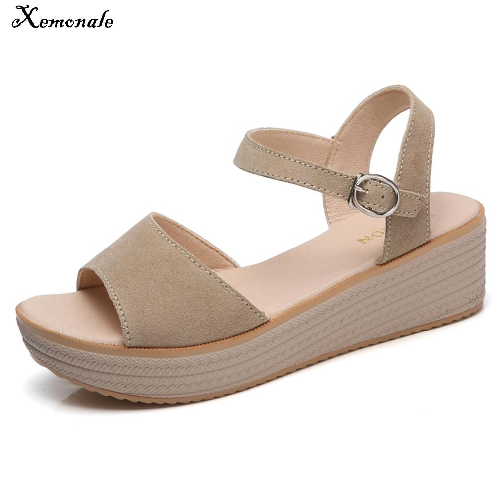 Para Tacones Cuero Casuales Playa Med Sandalias Plana Verano Negro Gamuza Medias Xemonale Marrón Mujer Zapatos De Plataforma T3J5ulFcK1