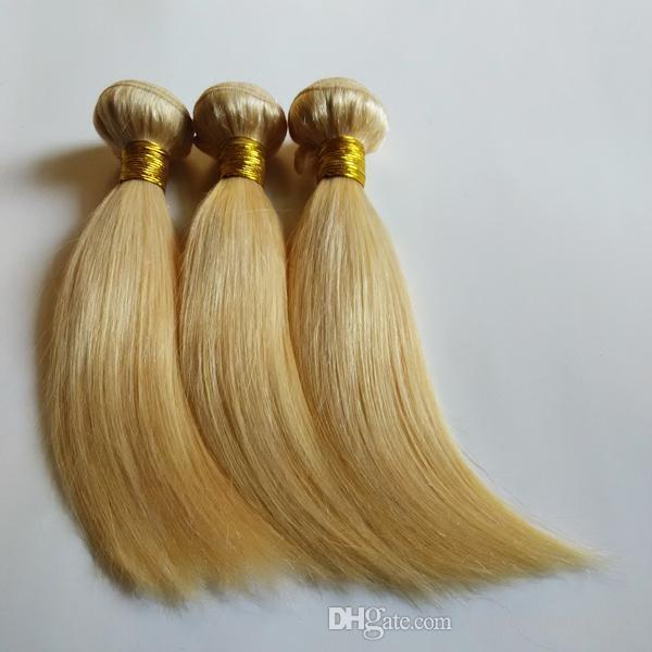 Brazilian Malaysian Virgin Human Hair Weave Bundles 24# beautiful golden Color 8-26inch cheap Peruvian Hair Silk Straight double Wefts