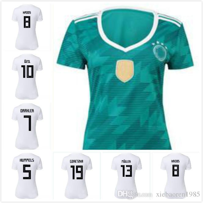 1c1da291d Woman DRAXLER OZIL REUS GOTZE HOT SALE 2018 Germany Kroos World Cup Germany  Soccer Jerseys 18 19 Germany Fans Model WERNER Football Shirts UK 2019 From  ...