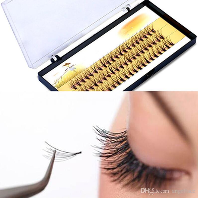 e9246993658 3D False Eyelashes 6 14mm Individual Lashes Feather Plastic Cotton Stalk  Single Cluster Planting Russian Premade Volum Eyelashes Extensions Longer  Eyelashes ...