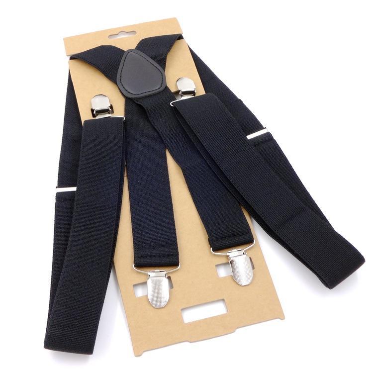 a4c3a9520 New Fashion Men 3.5 Width 4 Clips Suspenders Adjustable Elastic X ...