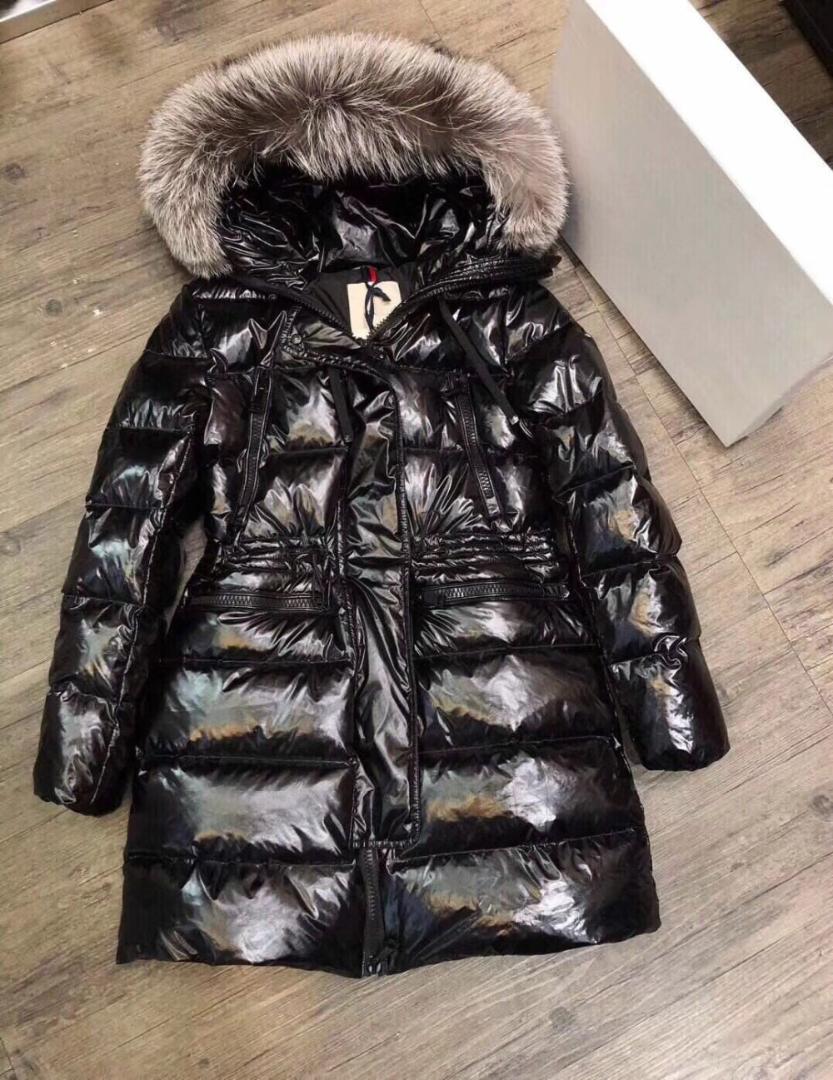 87a4d4d85 Women Down Coat Warm Fur Collar Fashion Long Brand Womens Down Jacket  Hooded Snow Wear Jacket Black Parkas 2018 New Arrival